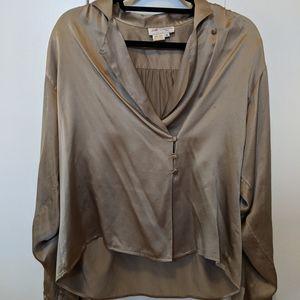 Luxury 100% silk top